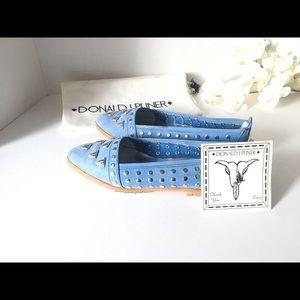 Donald J Pliner Blue Suede shoes. 7M